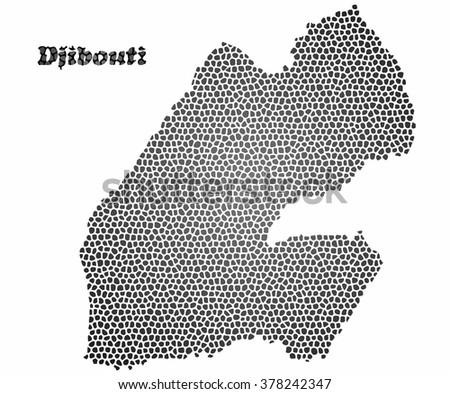 Concept map of Djibouti, vector design Illustration.
