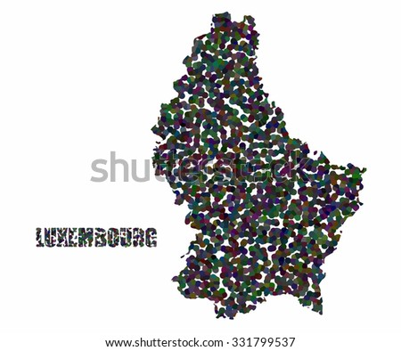 Concept map of Luxembourg, vector design Illustration.