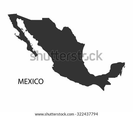 Concept map of Mexico, vector design Illustration. - stock vector