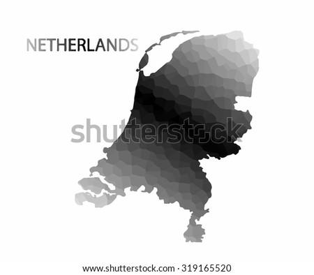 Concept map of Netherlands, vector design Illustration. - stock vector