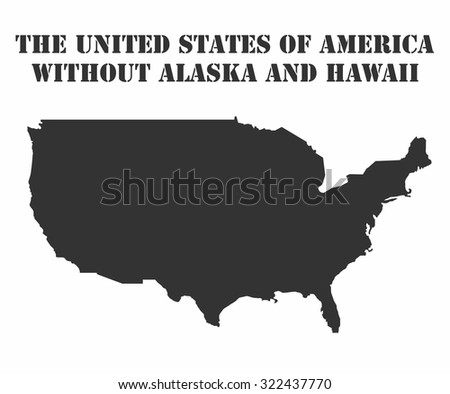 Concept map of USA , vector design Illustration. - stock vector