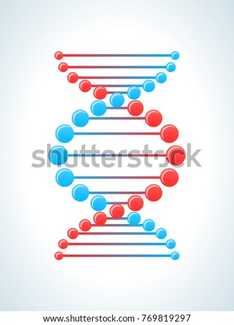 Concept modern education, physics, scientific laboratory studies, tests and experiments, study of laws and regulations. Study of molecules and DNA. Knowledge, education, science. Vector illustration.