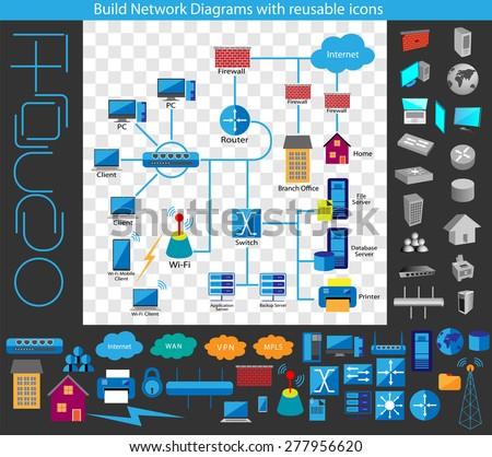 Concept building network diagram build your stock vector 277956620 concept of building a network diagram build your own network diagrams through a complete collection ccuart Choice Image