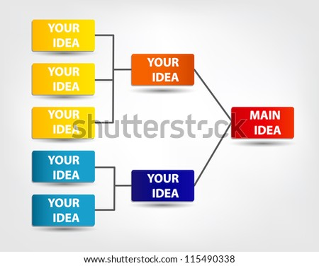 Concept of colorful circular banners with arrows for different business design. Vector illustration - stock vector