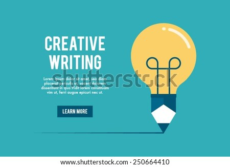 concept of creative writing workshop, vector illustration - stock vector