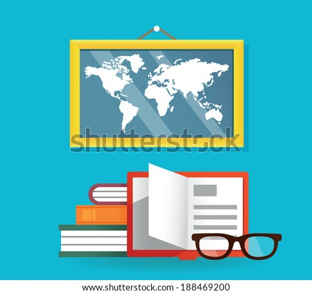 Concept of education and science - vector illustration - stock vector
