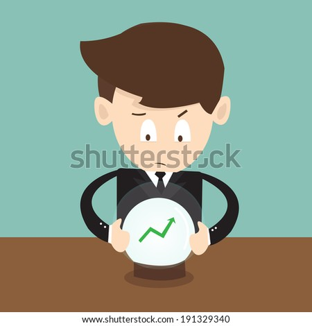 Concept of forecasts of the financial crisis - stock vector