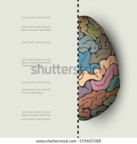 Concept of human brain. Vector illustration  - stock vector