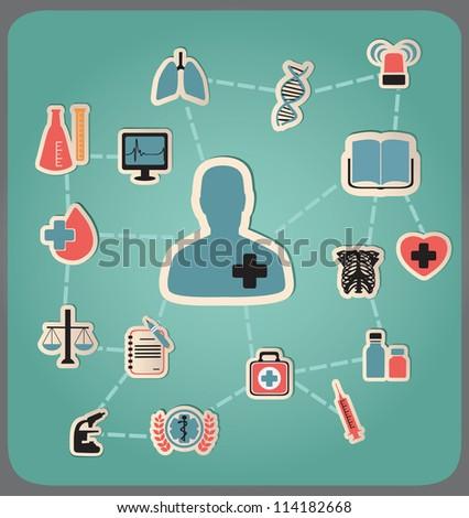 Concept of medicine - vector illustration - stock vector