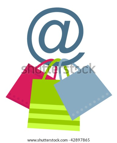 Concept of on-line shopping. Vector version. - stock vector