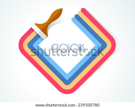 Concept of paint with brush. - stock vector