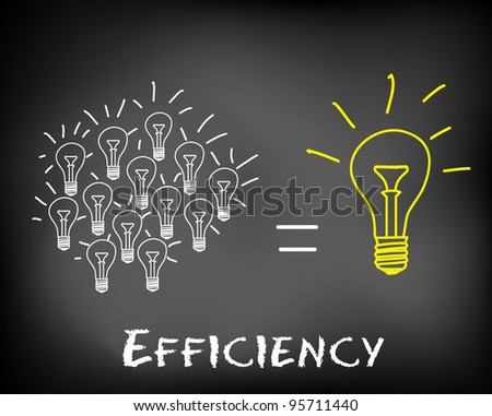 Concept of problem solving with a brilliant idea of incandescent light bulb drawn on black chalkboard - vector illustration - stock vector