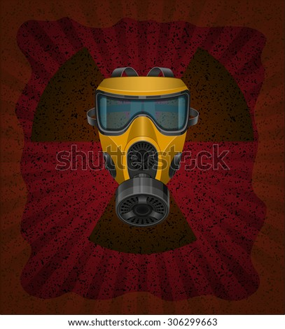 concept of radioactive contamination vector illustration isolated on white background