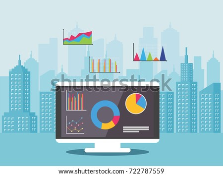 Concept Real Estate Market Analysis Financial Stock Vector