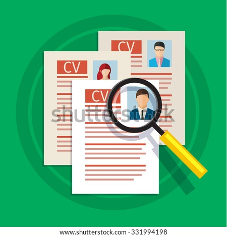 approved candidate resume candidate selection good stock vector