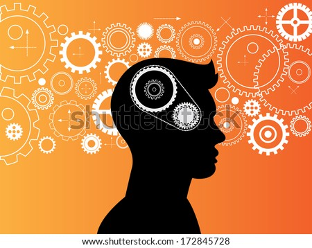Concept of the functioning of the human body,vector background