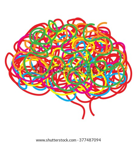 Concept of the human brain, vector illustration