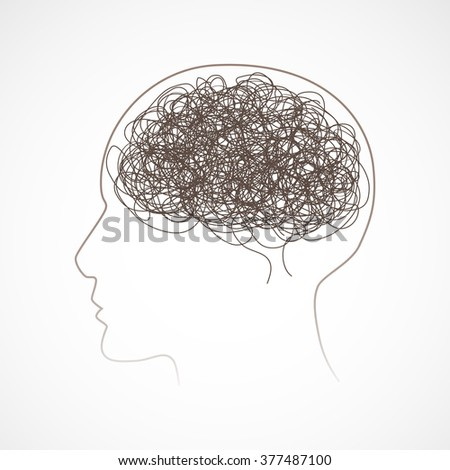 Concept of the human brain, vector illustration - stock vector