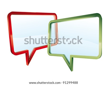 Concept of transparent conversation isolated on white background