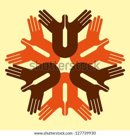 concept of unity - stock vector