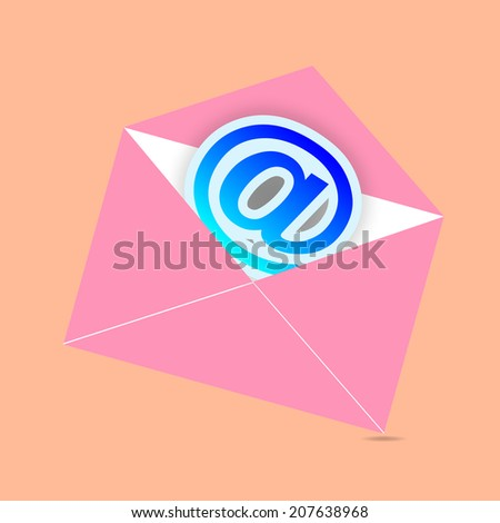 Concept representing email, envelope, vector illustration
