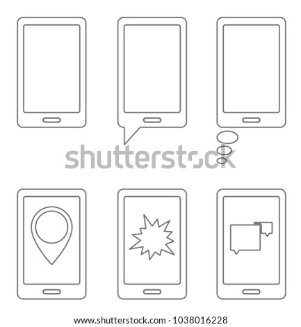 concept smart phone outline icon