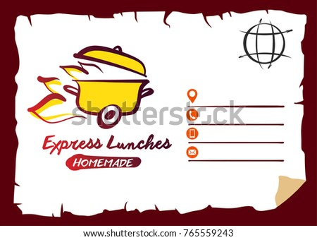 Concept template fast delivery silhouette pan stock vector 765559243 concept template for fast delivery silhouette of pan with cap sketch image fire maxwellsz