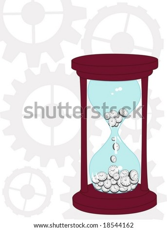 concept vector hourglass - stock vector