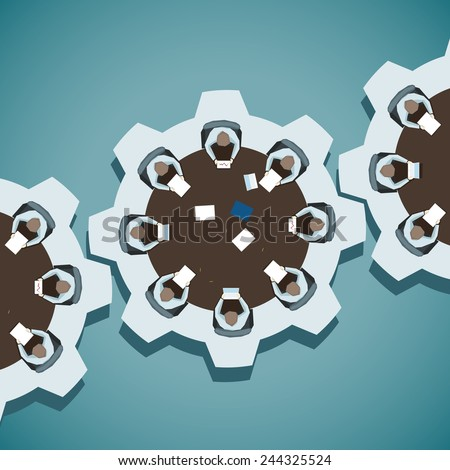 Concept vector illustration of Brainstorming in business - stock vector