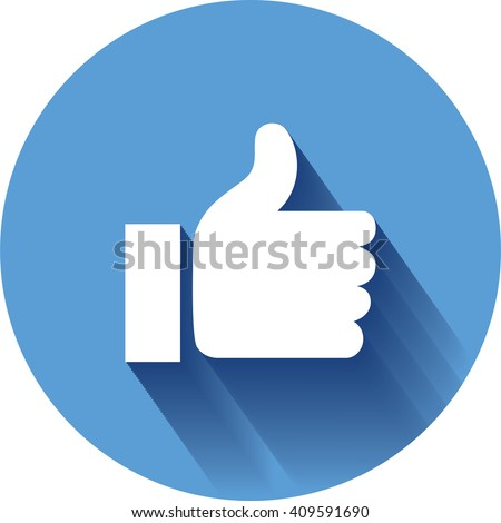 Concept vector-  stylish social media like hand icon(Symbol). The illustration shows a shiny like sign or icon used in social media websites like. new icon - stock vector