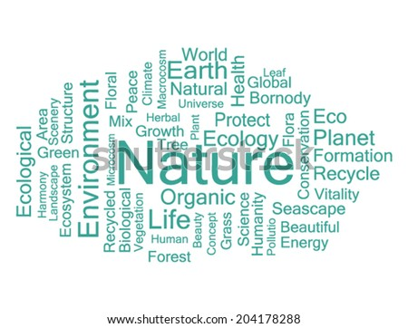 Concept word cloud for environment tags, vector. - stock vector
