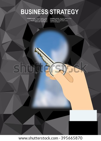 Concepts for business planning and accounting, analysis, audit, project management, marketing, research in flat design style. Back view image of young businessman found way out of maze  - stock vector