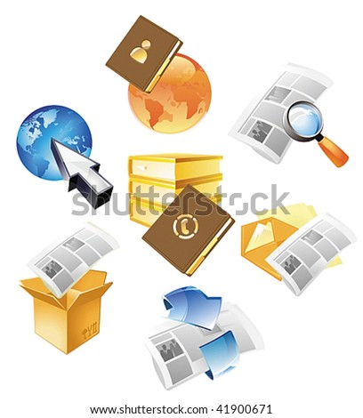Concepts for information and media. Vector illustration. - stock vector
