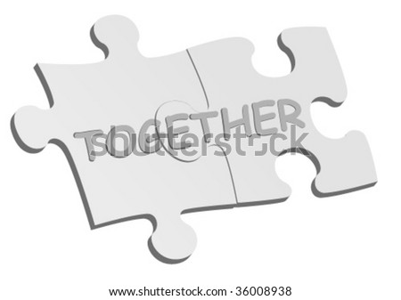 Conceptual background with puzzle pieces - stock vector