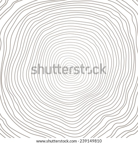 Conceptual background with tree-rings, cut tree trunk. Vector graphics. - stock vector