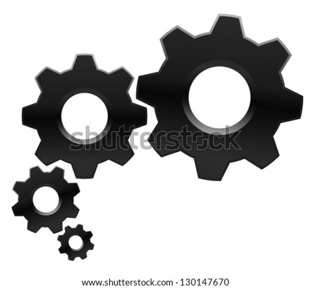 Conceptual Gear Illustration - stock vector