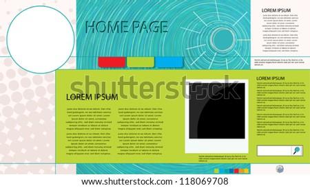 Conceptual graphic web page design - stock vector