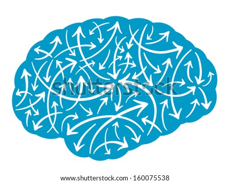 Conceptual illustration of a row of silhouetted male heads showing a decreasing level of memory forgetting curve - stock vector