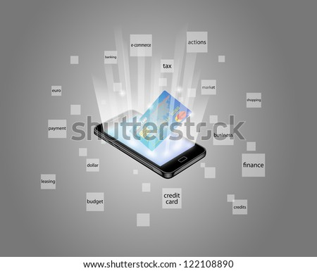 Conceptual image representing the on line business - stock vector