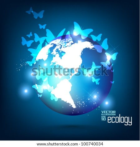 conceptual modern earth globe vector design