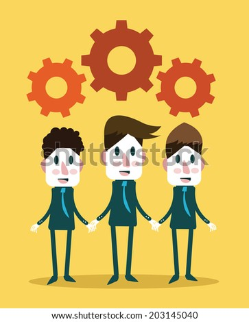 Conceptual of business teamwork . Business people character. Vector illustration - stock vector