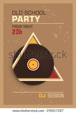 Conceptual party poster design. Vector illustration.
