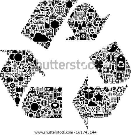 Conceptual Recycle icon - stock vector