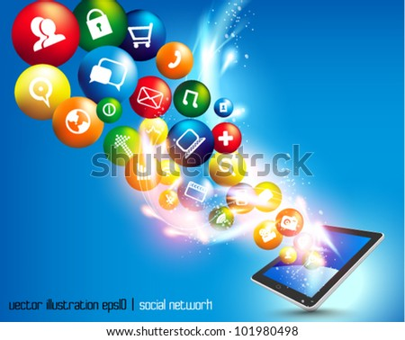 conceptual social networking graphic design - stock vector