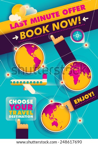 Conceptual travel poster design. Vector illustration. - stock vector