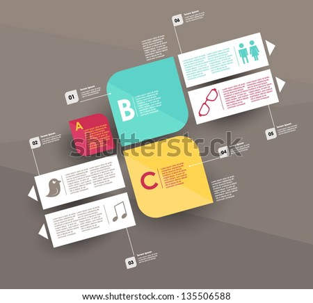 Conceptual vector Design template. infographics element - stock vector