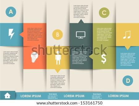Conceptual vector Design template. infographics element - stock vector