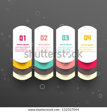 Conceptual vector Design template. infographics element. banners - stock vector