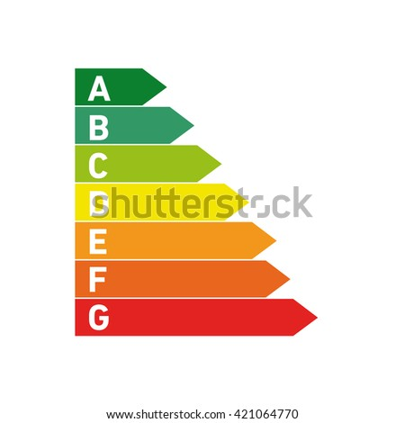 Conceptual vector passive house energy sheet icon and pictogram | modern flat design illustration and infographic concept colorful on white background