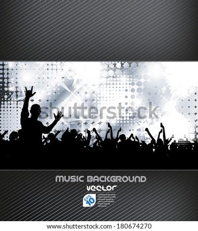 Concert background - stock vector